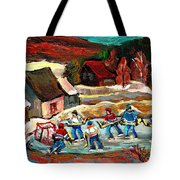 Hockey Rinks In The Country Tote Bag