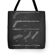 Hockey Stick Patent Drawing From 1934 Tote Bag