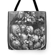 Hogarth: Physicians, 1736 Tote Bag
