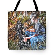 Hogdog And Hunter Tote Bag