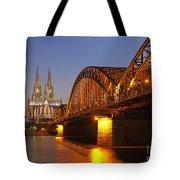 Hohenzollernbrucke In Cologne Tote Bag