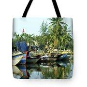 Hoi An Fishing Boats 01 Tote Bag