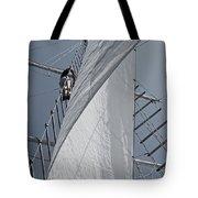 Hoisting The Mainsails Tote Bag
