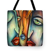 'holding 3' Tote Bag