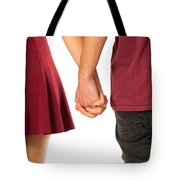 Holding Hands Tote Bag by Carlos Caetano