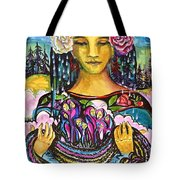Holding Her Community Close To Her Heart  Tote Bag