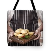 Holding Mince Pies Tote Bag