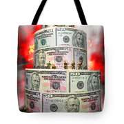 Holding The Financial Fort Tote Bag