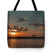 Holgate Bay Sunset Tote Bag