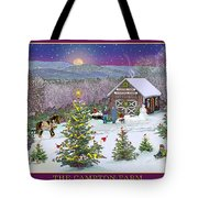 Holiday At Campton Farm New Hampshire Tote Bag