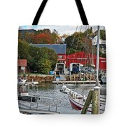Holiday At Rockport Tote Bag