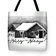 Holiday Barn Tote Bag