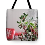 Holiday Birdcage Tote Bag