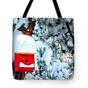 Holiday Birdhouse Tote Bag