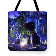 Holiday Blues Tote Bag