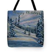 Happy Holidays - Winter Landscape Tote Bag