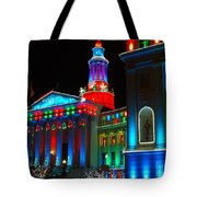 Holiday Lights 2012 Denver City And County Building A1 Tote Bag