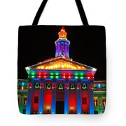 Holiday Lights 2012 Denver City And County Building D3 Tote Bag