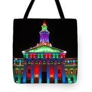 Holiday Lights 2012 Denver City And County Building G1 Tote Bag