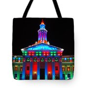 Holiday Lights 2012 Denver City And County Building G2 Tote Bag