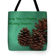 Holiday Pine Cones Tote Bag