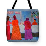 Holiday Shoppers On Prince Island Tote Bag