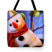 Holiday Snowman Tote Bag