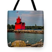 Holland Harbor Light Tote Bag