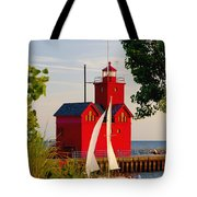 Holland Lighthouse Tote Bag