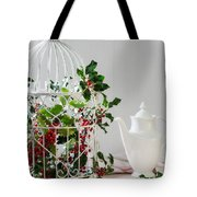 Holly And Berries Birdcage Tote Bag