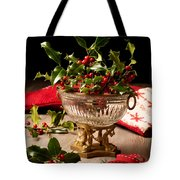 Holly And  Berries Tote Bag by Amanda Elwell