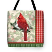 Holly And Berries-e Tote Bag