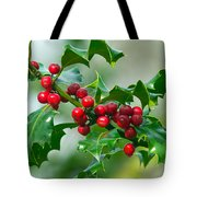Holly Berries Tote Bag