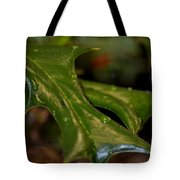 Holly Leaf Abstract Tote Bag