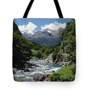Hollyford River And The Eyre Range Tote Bag