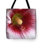Hollyhock Flower Tote Bag