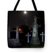 Hollywood Cemetery Moon Burst Tote Bag