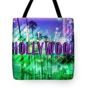 Hollywood Day And Night Tote Bag