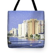 Hollywood In Florida Tote Bag