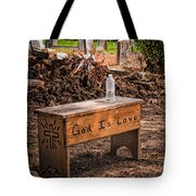 Holt Cemetery - God Is Love Bench Tote Bag
