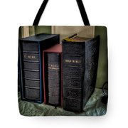 Holy Bibles Tote Bag by Adrian Evans