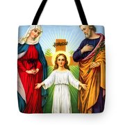 Holy Family With Cross Tote Bag