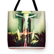 Adoration With Red Candles - Digital Painting Tote Bag