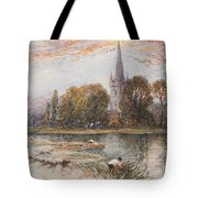 Holy Trinity Church On The Banks If The River Avon Stratford Upon Avon Tote Bag