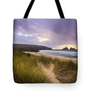 Holywell Bay Spectacular Sunset Tote Bag
