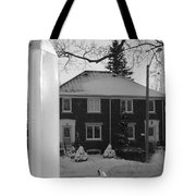 Homage To Winter In The City 3 Tote Bag