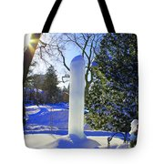 Homage To Winter In The City Tote Bag