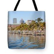 Home And Water And City Tote Bag