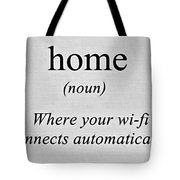 Home And Wifi Tote Bag