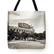 Home Field Advantage - Sepia Toned Texture Tote Bag